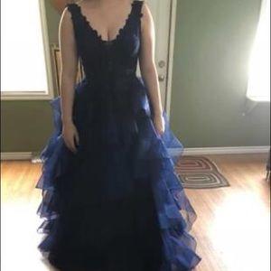 Midnight Blue Graduation Dress